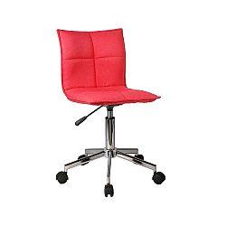 TEMPO KONDELA Kancelárska stolička, červená, CRAIG