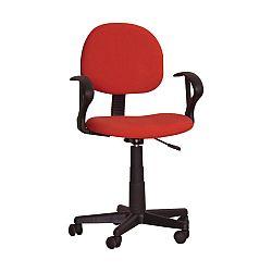 TEMPO KONDELA Kancelárska stolička, červená, TC3-227