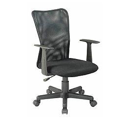 TEMPO KONDELA Kancelárska stolička, čierna, REMO NEW