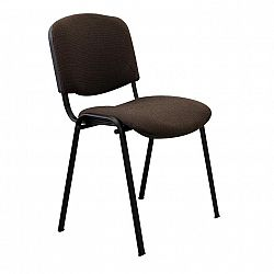 TEMPO KONDELA Kancelárska stolička, hnedá, ISO NEW
