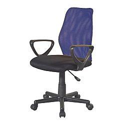 TEMPO KONDELA Kancelárska stolička, modrá/čierna, BST 2010 NEW