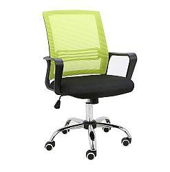 TEMPO KONDELA Kancelárska stolička, sieťovina zelená/látka čierna, APOLO