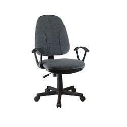 TEMPO KONDELA Kancelárska stolička, sivá látka, DEVRI
