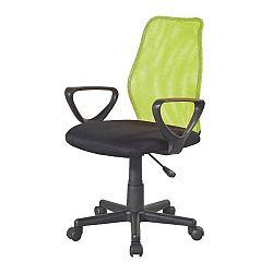 TEMPO KONDELA Kancelárska stolička, zelená/čierna, BST NEW 2010