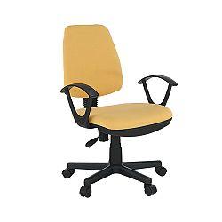 TEMPO KONDELA Kancelárska stolička, žltá, COLBY