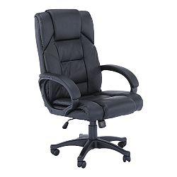 TEMPO KONDELA Kancelárske kreslo, čierna ekokoža, SIEMO NEW