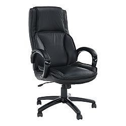 TEMPO KONDELA Kancelárske kreslo, koža/ekokoža čierna, LUMIR