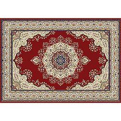 TEMPO KONDELA Koberec, vínovočervená/mix farieb/vzor, 100x150, KENDRA TYP 3