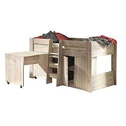 TEMPO KONDELA Kombinovaná posteľ do detskej izby, san remo, FANY