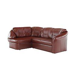 TEMPO KONDELA Luxusná sedacia súprava,  koža/ekokoža hnedočervená, ľavá, LAREDO