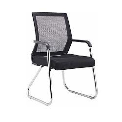 TEMPO KONDELA Moderná stolička, čierna sieťovina/chróm, SARIS NEW