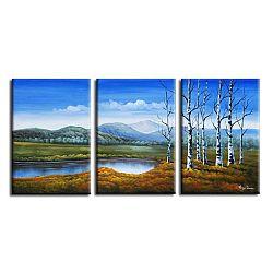 TEMPO KONDELA Obraz, ručne maľovaný, 150x70 cm, 22299