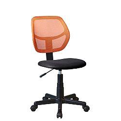 TEMPO KONDELA Otočná stolička, oranžová/čierna, MESH