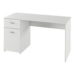 TEMPO KONDELA PC stôl, biela, BANY