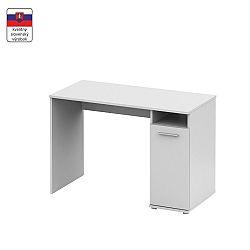 TEMPO KONDELA PC stôl, biela,  NOKO-SINGA 21