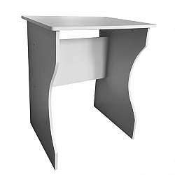 TEMPO KONDELA PC stôl, biela, TORVI