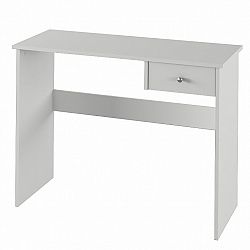 TEMPO KONDELA PC stôl, biela, VASOL