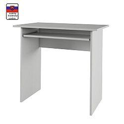TEMPO KONDELA PC stôl, biely, VERNER NEW
