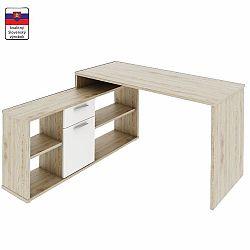 TEMPO KONDELA PC stôl, dub san remo/biela, NOE NEW