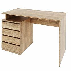 TEMPO KONDELA PC stôl, dub sonoma, HANY
