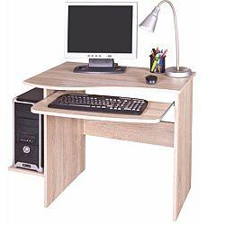TEMPO KONDELA PC stôl, dub sonoma, MELICHAR
