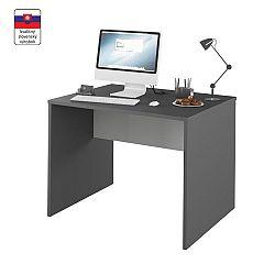 TEMPO KONDELA PC stôl, grafit/biela, RIOMA TYP 12