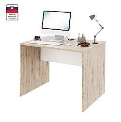 TEMPO KONDELA PC stôl, san remo/biela, RIOMA TYP 12