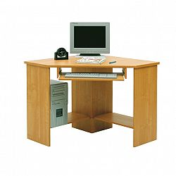 TEMPO KONDELA PC stolík, rohový, buk, B3 New