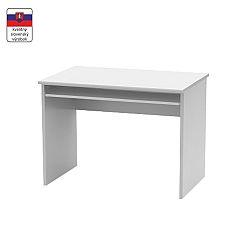 TEMPO KONDELA Písací stôl, biela, JOHAN NEW 02