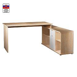 TEMPO KONDELA Písací stôl, dub sonoma/biela, DALTON NEW VE 02