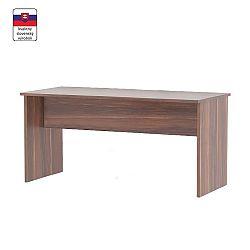 TEMPO KONDELA Písací stôl, obojstranný, slivka, JOHAN NEW 08 JH112