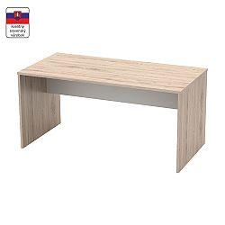 TEMPO KONDELA Písací stôl, san remo/biela, RIOMA TYP 16