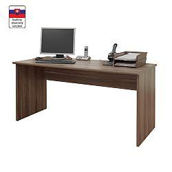TEMPO KONDELA Písací stôl, slivka, JOHAN NEW 01