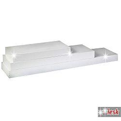 TEMPO KONDELA Polica, biely lesk, 120x25, GANA FY 11044-1