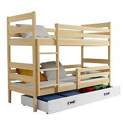 TEMPO KONDELA Poschodová posteľ, sosna/prírodná, 80x190, ADELA 2 NEW