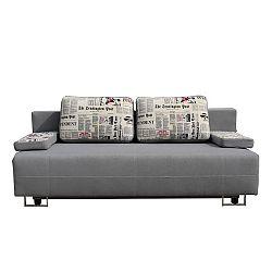 TEMPO KONDELA Rozkladacia pohovka s úložným priestorom, sivá/vzor, ELIZE