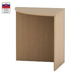 TEMPO KONDELA Stôl rohový oblúkový, buk, TEMPO ASISTENT NEW 024
