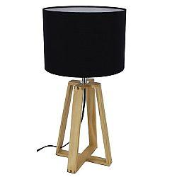 TEMPO KONDELA Stolná lampa, čierna, JADE Typ 3 6033-15B