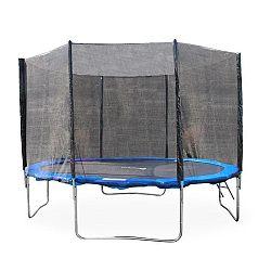 TEMPO KONDELA Trampolína s ochrannou sieťou a rebríkom, 252 cm, modrá/čierna, JUMPY 2