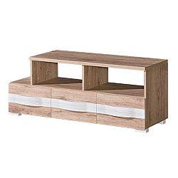 TEMPO KONDELA TV stolík/skrinka, san reno / biela, ROVIN R - 09