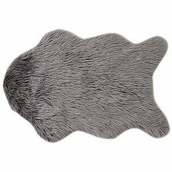 TEMPO KONDELA Umelá kožušina, sivá, 60x90, EBONY TYP 5