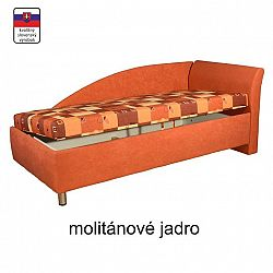 TEMPO KONDELA Váľanda s úložným priestorom, pravá, molitanová, 90x200, PERLA