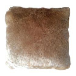 TEMPO KONDELA Vankúš, imitácia ovčej kožušiny, béžová, 45x45, ROSALINE