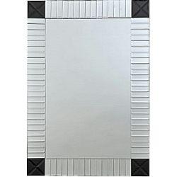TEMPO KONDELA Zrkadlo, strieborná/čierna, ELISON TYP 3