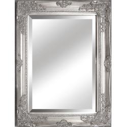 TEMPO KONDELA Zrkadlo, strieborný drevený rám, MALKIA TYP 6