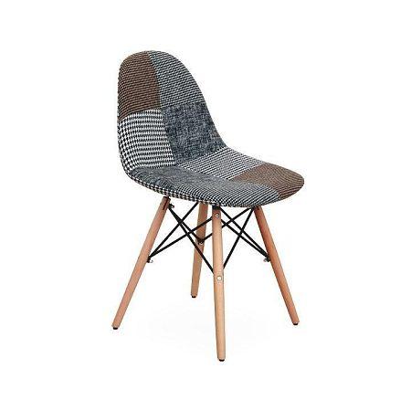 TEMPO KONDELA Dizajnová stolička, látka patchwork, PEPITO TYP 9
