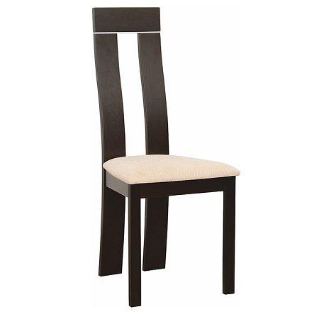 TEMPO KONDELA Drevená stolička, wenge/látka béžová, DESI