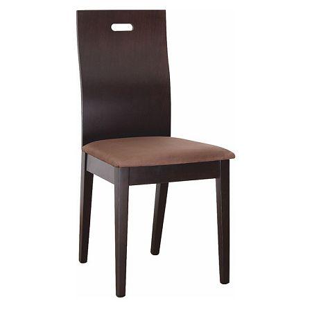 TEMPO KONDELA Drevená stolička, wenge/látka tmavohnedá, ABRIL