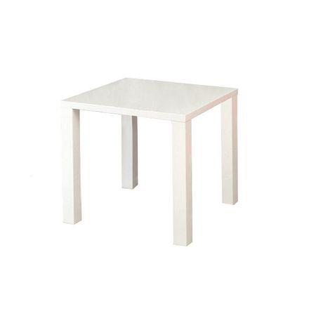 TEMPO KONDELA Jedálenský stôl, biela vysoký lesk HG, ASPER TYP 5