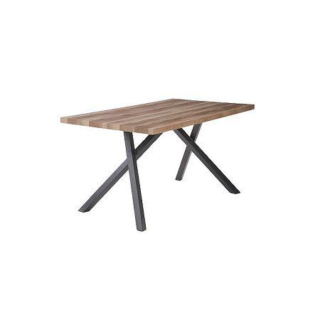 TEMPO KONDELA Jedálenský stôl, svetlá slivka/čierna, GURDUN